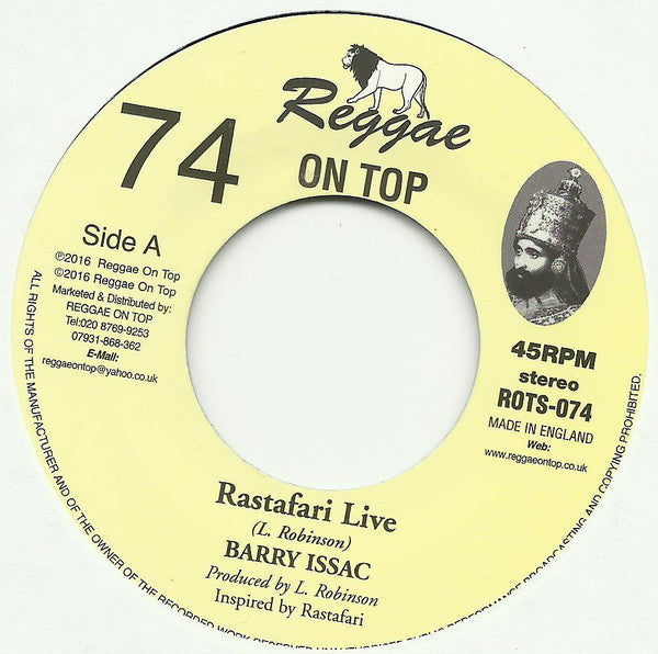 Barry Issac ‎– Rastafari Live