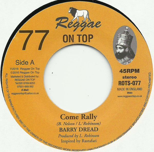Barry Dread ‎– Come Rally