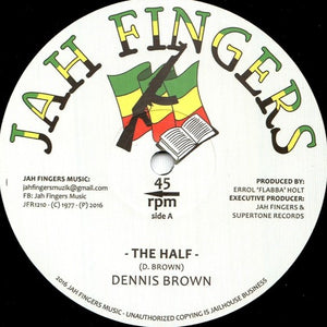 Dennis Brown ‎– The Half / Bless Me Jah