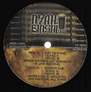 Idren Natural, InI Oneness & Jah Massive ‎– Just Reward / Kristos Dub