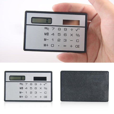 Slim Credit Card Solar Pocket Calculator