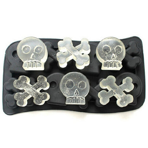 skull and bones ice cube maker
