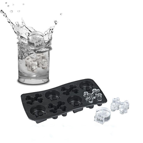 skull and bones ice mold set