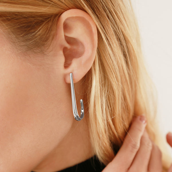 Horizon Silver Earrings