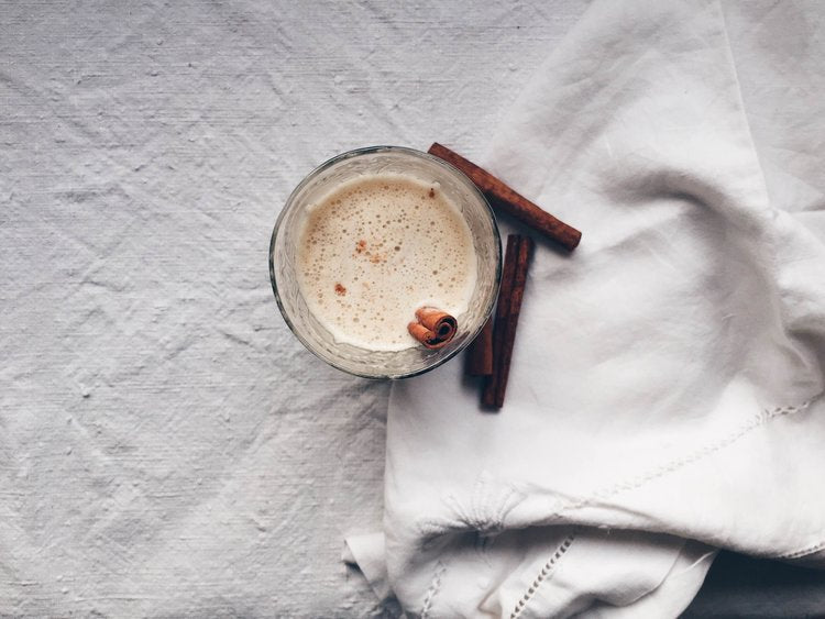 vegan spiced white hot chocolate