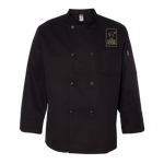 Chop House Chef Designs - Black Traditional Chef Coat - KT76