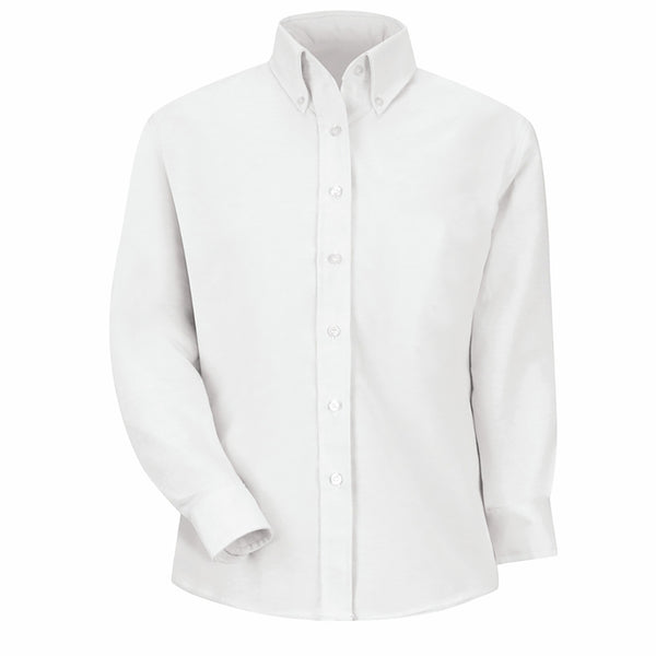 Ladies Long Sleeve Oxford Style Shirt – White