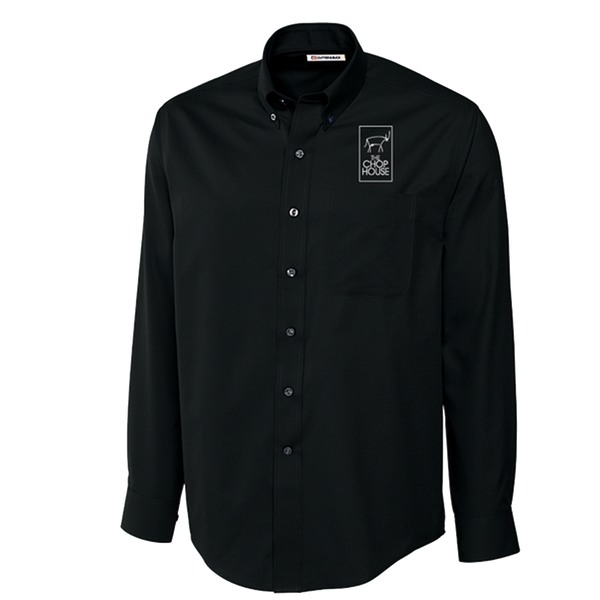 Cutter and Buck Men's Long Sleeve Epic Easy Care Fine Twill - Black