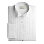 "Men's 1/4"" Pleat Wing Collar Tuxedo Shirt - Classic Fit"