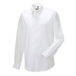 Men's Long Sleeve Oxford Style Shirt – White