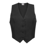 Women's Comfort Stretch Polyester Service Vest - Black