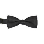"2"" Banded Bow Tie - Black"