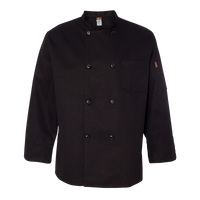 Gratzi Chef Designs - Black Traditional Chef Coat - KT76 - BLANK