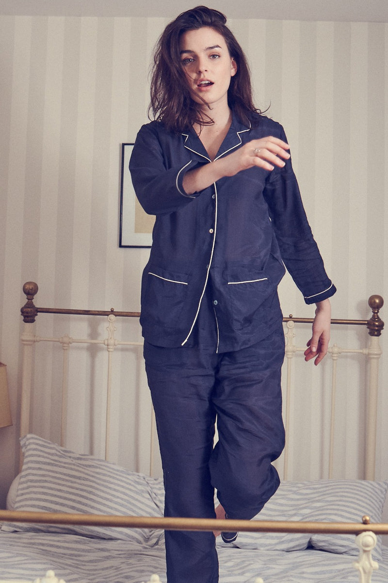 GERMAINE DES PRES Camile Pyjamas in Navy