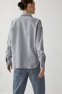 CLOSED Shirt-blouse in Grey Heather-melange