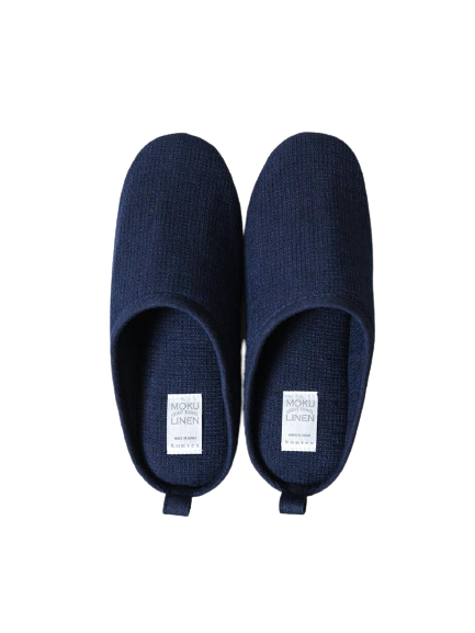 MOKU JAPANESE ROOM SHOES IN MIDNIGHT