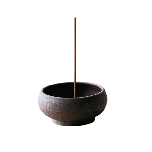 UME COLLECTION Wabi Sabi Mud-clay Incense Bowl