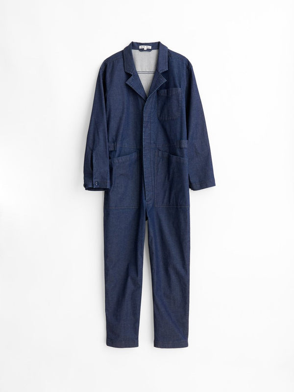 ALEX MILL STANDARD JUMPSUIT IN INDIGO