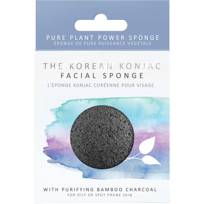 KONJAC Facial Sponge with Bamboo Charcoal - STIL Lifestyle