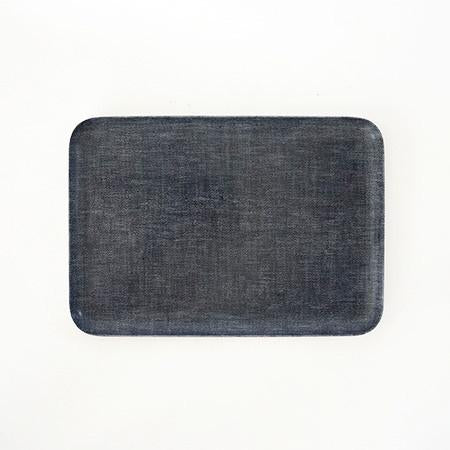 FOG LINEN TRAY in Blue Chambray