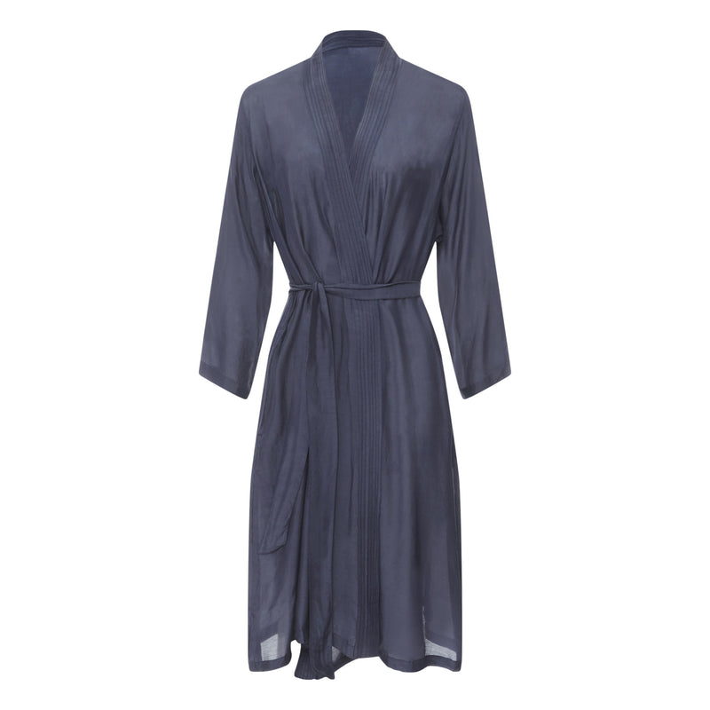GERMAINE DES PRES Silk-blend Kimono in Midnight