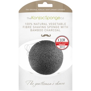 KONJAC Gentleman's Shaving Sponge with Bamboo Charcoal - STIL Lifestyle
