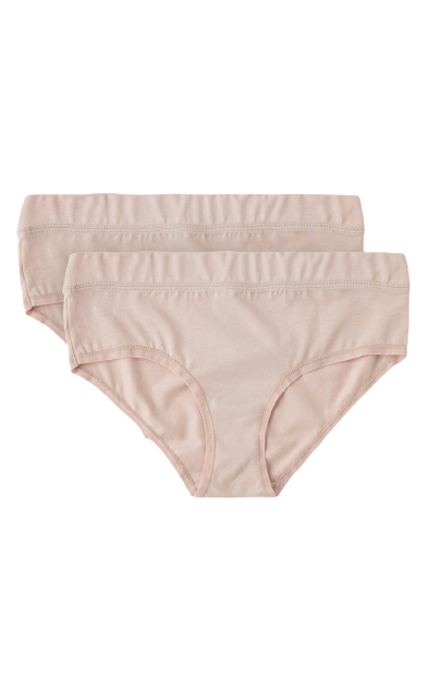 ORGANIC BASICS Organic Cotton Briefs 2-Pack in Rose Nude