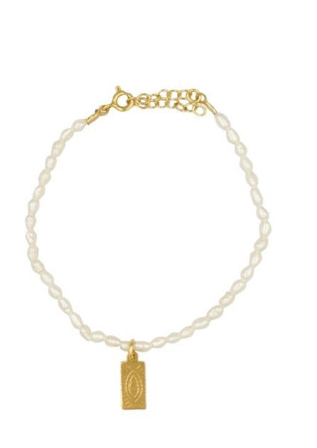 HERMINA ATHENS Pearl Tag Bracelet Sold Out