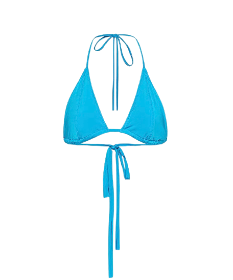 FORTE FORTE BIKINI TOP IN SEA BLUE