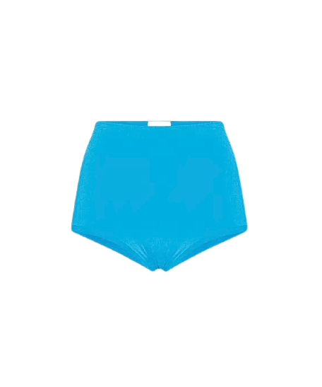 FORTE FORTE BIKINI SHORTS IN SEA BLUE