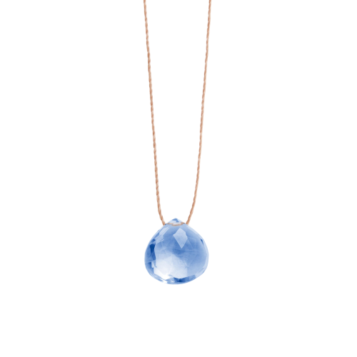 WANDERLUST LIFE California Blue Quartz Fine Cord Necklace
