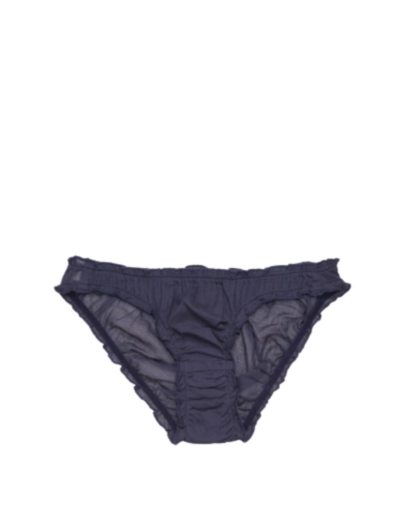 GERMAINE DES PRES Ruffled Organic Briefs in Navy