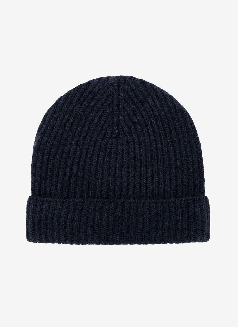 BRORA Cashmere Hat in French Navy