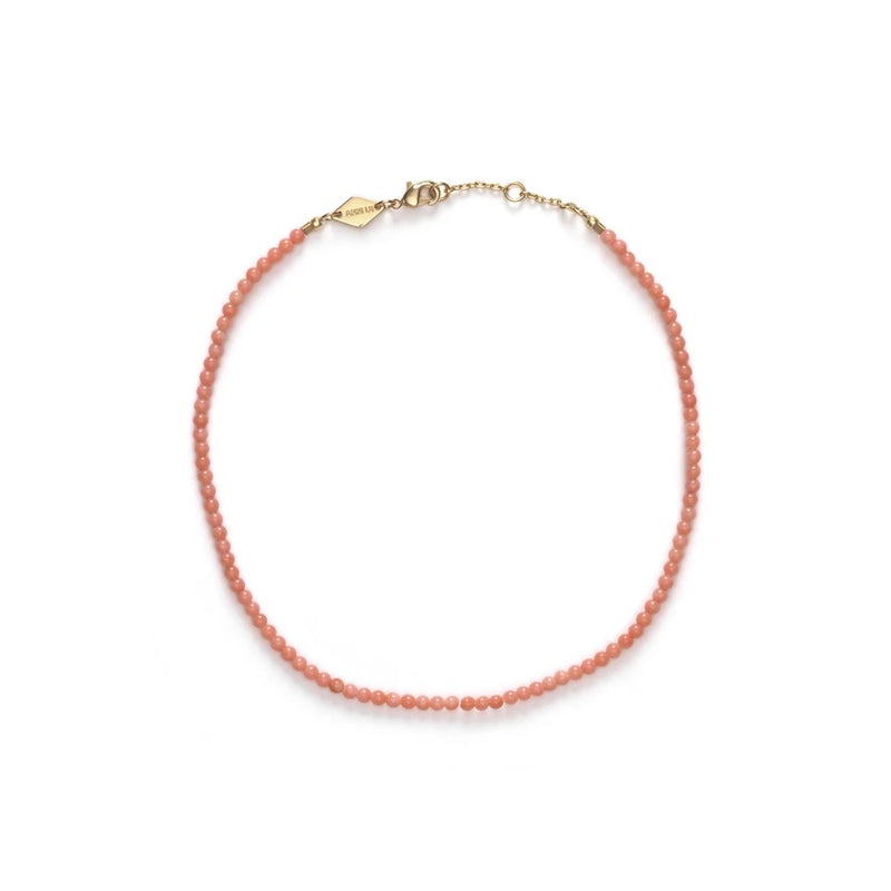 ANNI LU WAVE ANKLET IN SEASHELL PINK