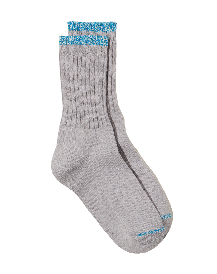 NISHIGUCHI SILK-BLEND SOCKS IN GREY