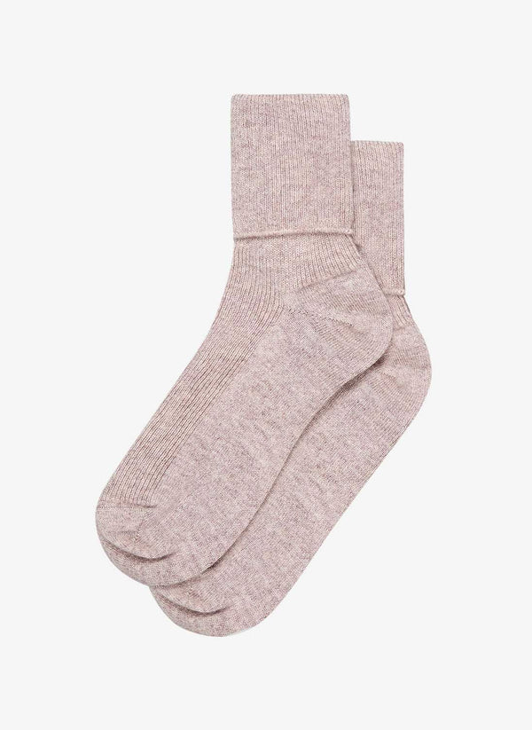 BRORA Cashmere-blend Socks in Ash