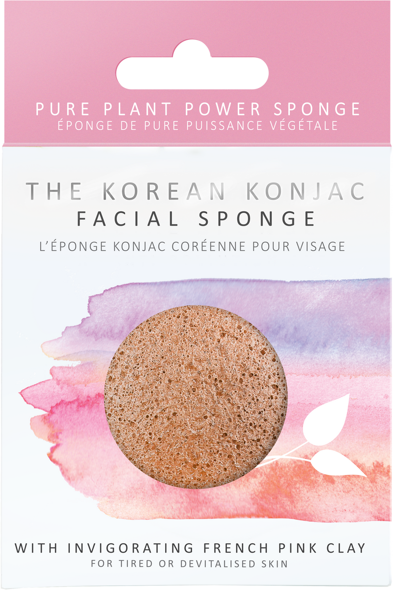 KONJAC Facial Sponge with Pink French Clay - STIL Lifestyle
