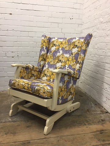 Purple Zebra Rocking Chair
