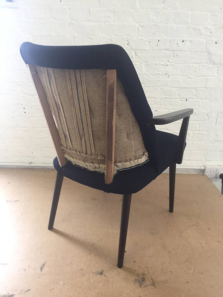 Navy Deconstructed Cocktail Chair