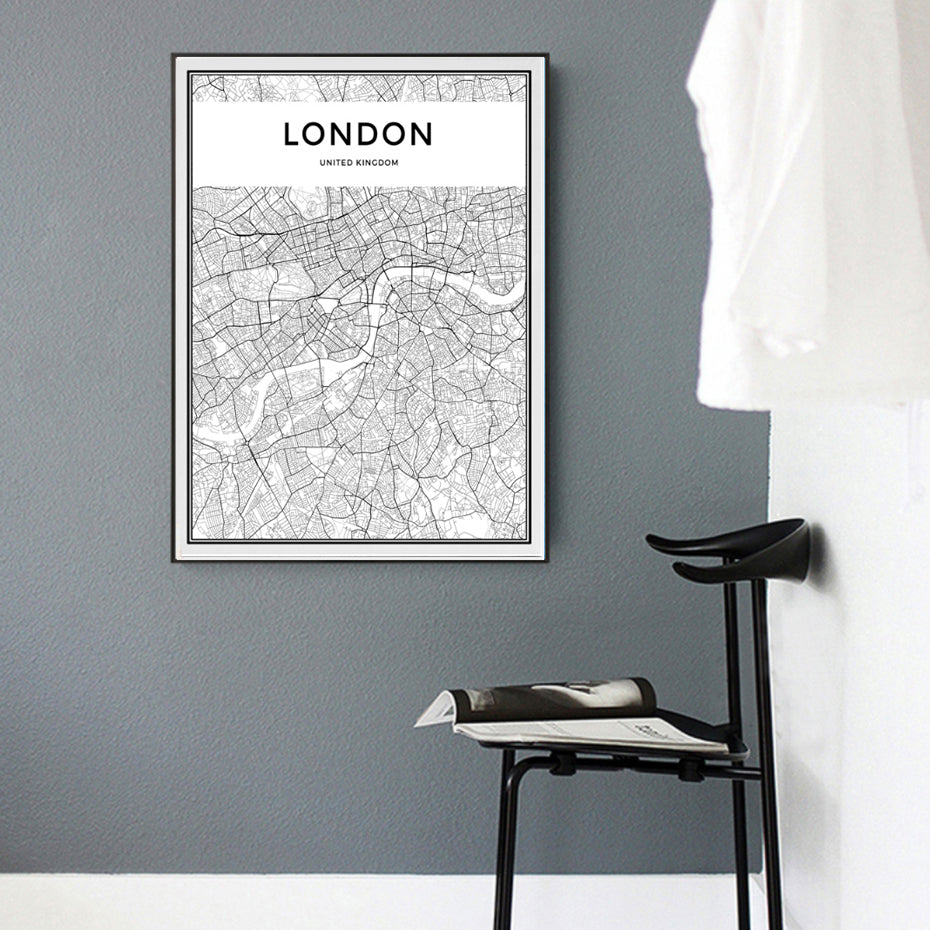 LONDON Map Canvas Print
