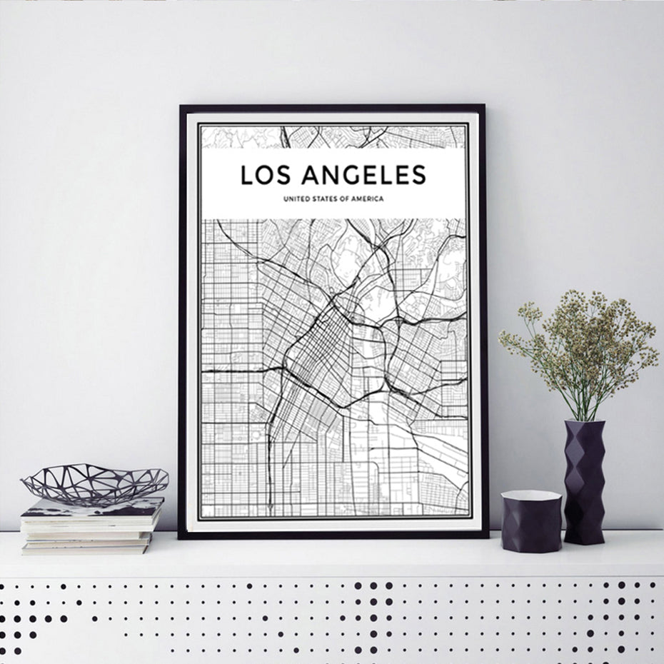 LOS ANGELES Map Canvas