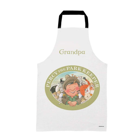 Percy The Park Keeper Apron Adults Personalised Percy & Friends Badge Apron