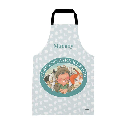Percy The Park Keeper Apron Adults Personalised Percy & Friends Pattern Badge Apron