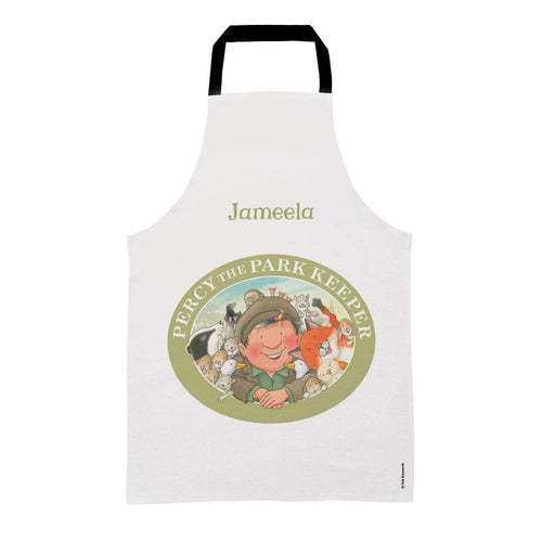 Percy The Park Keeper Apron Kids (Age 3-7) Personalised Percy & Friends Badge Apron