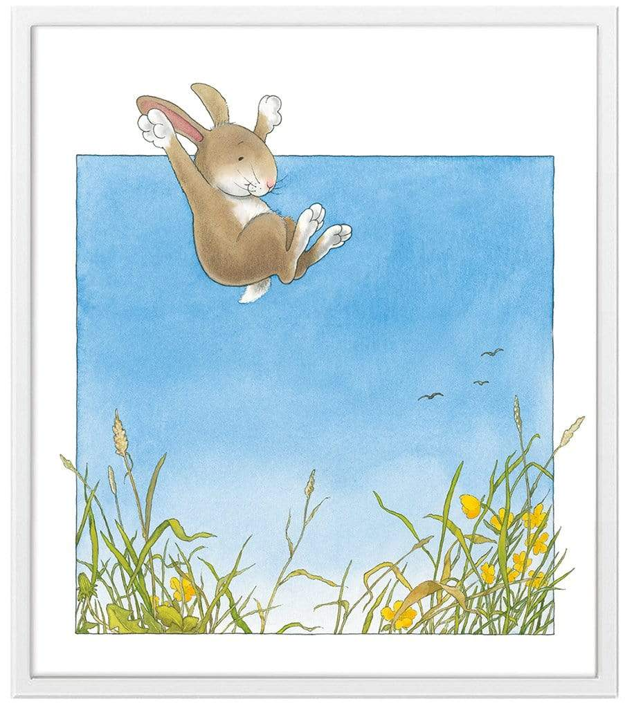 Percy The Park Keeper Art Print Rabbit leaping framed print 11 x 14 inches