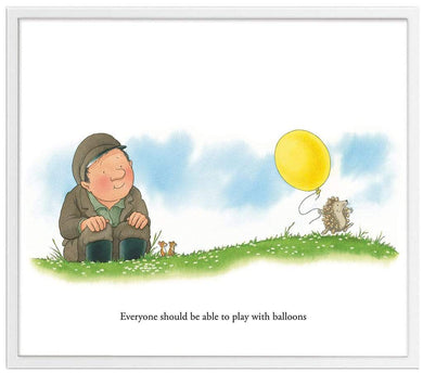 Percy The Park Keeper Art Print The Hedgehog's Balloon framed print 11 x 14 inches