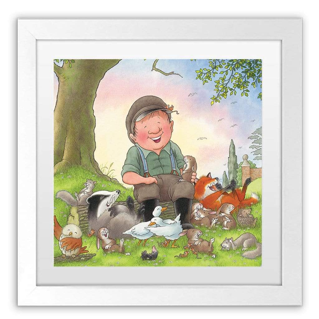 Percy The Park Keeper Art Print The Rescue Party cover framed print 40cm x 40cm