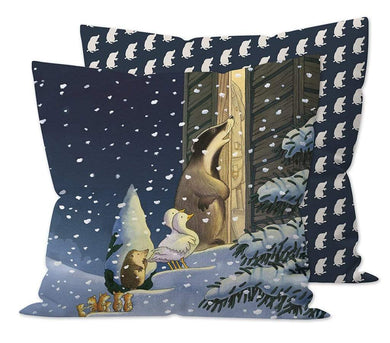 Percy The Park Keeper Cushion Percy The Park Keeper - One Snowy Night cushion