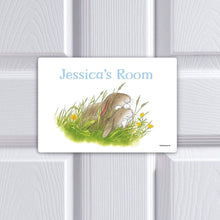 Percy The Park Keeper Door plaque Personalised Rabbits together door plaque