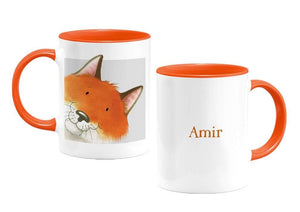 Percy The Park Keeper Mug Fox - personalised two-tone mug